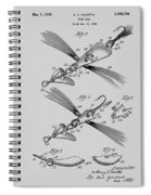 Fish Lure Patent 1933 Spiral Notebook