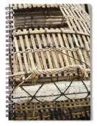 Fishermen Bamboo Crab Cages At Kep Market Cambodia Spiral Notebook