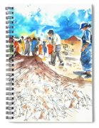 Fishermen In Praia De Mira Spiral Notebook