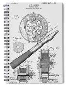 Fishing Reel Patent 1906  Spiral Notebook