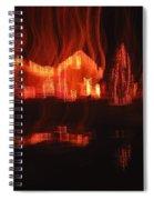 Flaming Houses Lights Water Reflection Christmas Arizona City Arizona 2005 Spiral Notebook