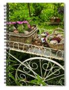 Flower Cart In Garden Spiral Notebook