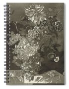 Flower Of The Peony, Cj Crumb, 1700 - 1800 Spiral Notebook