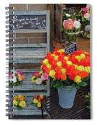 Flower Shop Display In Paris, France Spiral Notebook