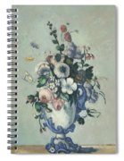 Flowers In A Rococo Vase Spiral Notebook