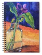 Flowers In Glass Vase Spiral Notebook