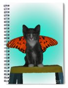 Flying Kitty Spiral Notebook