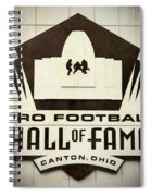 Football Hall Of Fame #1 Spiral Notebook