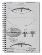 Football Patent Drawing From 1903 Spiral Notebook