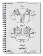 Football Shoulder Pads Patent 1913 Spiral Notebook