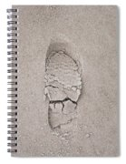 Footprint Spiral Notebook