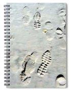 Footprints Spiral Notebook