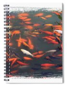 Koi Pond With Framing Spiral Notebook