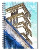 Foreshortening With Bell Tower Spiral Notebook