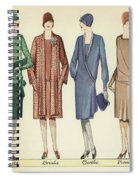 Four Flappers Modelling French Designer Outfits, 1928  Spiral Notebook