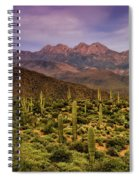 Four Peaks Golden Hour  Spiral Notebook
