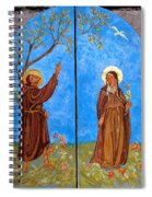 Francis And Claire Triptych Spiral Notebook