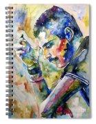 Freddie Mercury Watercolor Spiral Notebook