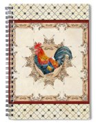 French Country Roosters Quartet Cream 2 Spiral Notebook