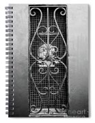 French Quarter Window To The Courtyard - Bw Spiral Notebook