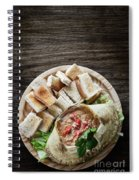 Fresh Crab Seafood Cream Mousse With Toast Tapas Snack Spiral Notebook