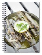 Fresh Razor Shell Seafood Steamed In Garlic Herb Wine Sauce Spiral Notebook