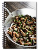 Fried Shiitake Mushrooms In Garlic Herb And Olive Oil Snack Spiral Notebook