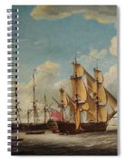 Frigates Receiving Their Captains Spiral Notebook