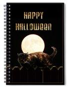 Full Moon Cat Spiral Notebook