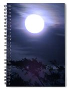 Full Moon Falling Spiral Notebook