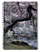 Garden View In Blue Spiral Notebook