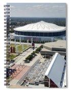 Georgia Dome In Atlanta Spiral Notebook