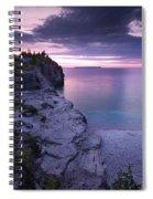 Georgian Bay Cliffs At Sunset Spiral Notebook