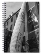 Giant Baseball Bat Adorns Spiral Notebook