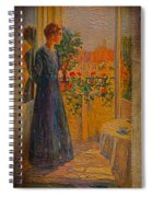 Girl At The Window Spiral Notebook