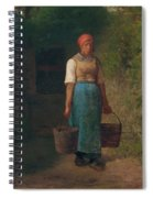 Girl Carrying Water Spiral Notebook