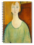 Girl In A Green Blouse Spiral Notebook
