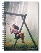 Girl In Swing Spiral Notebook
