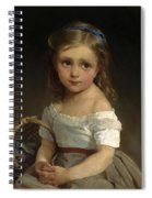 Girl With Basket Of Plums Spiral Notebook