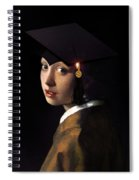 Girl With The Grad Cap Spiral Notebook