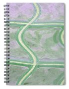 Glass Abstract Spiral Notebook
