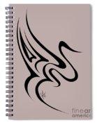 Gliding Swan Spiral Notebook