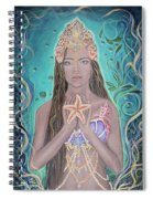 Goddess Of The Sea Spiral Notebook