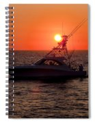 Going Fishing - Silhouette Spiral Notebook