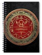 Gold Seal Of Solomon - Lesser Key Of Solomon On Black Velvet  Spiral Notebook