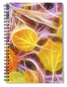 Golden Autumn Spiral Notebook