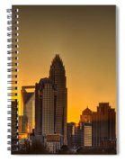 Golden Charlotte Skyline Spiral Notebook