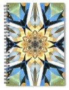 Golden Flower Abstract Spiral Notebook
