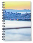 Golden Gate Bridge San Francisco California West Coast Sunrise Spiral Notebook