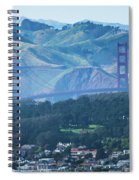 Golden Gate Bridge View From Twin Peaks San Francisco Spiral Notebook